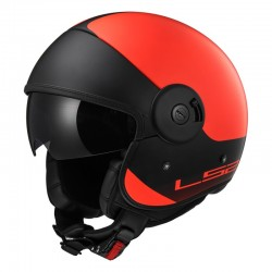 Casco CABRIO Via Matt Orange Black