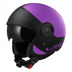 Casco CABRIO Via Matt Purple Black