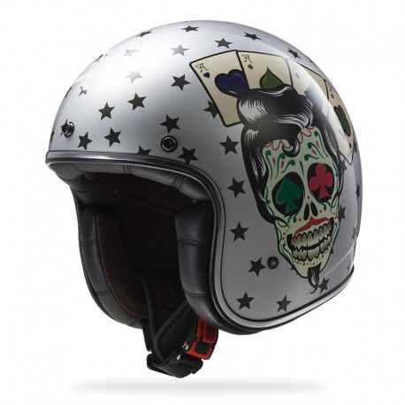 Casco BOBBER Tattoo Silver