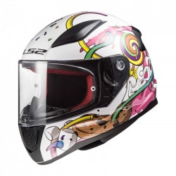 LS2 FF353J MINI RAPID  CRAZY POP WHT PINK