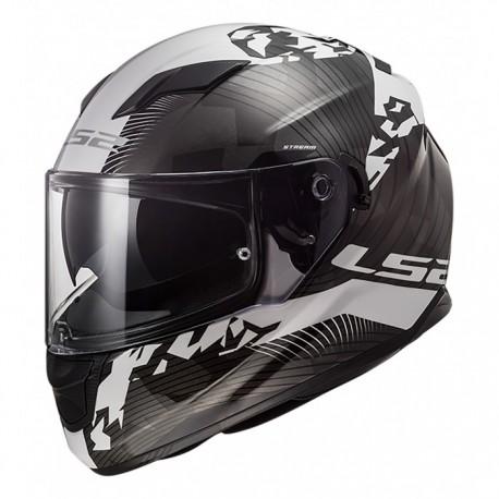 LS2 Helmets FF320 STREAM EVO HYPE White Black Titanium