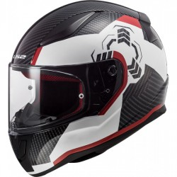LS2 FF353 RAPIDGhost White Black/Red