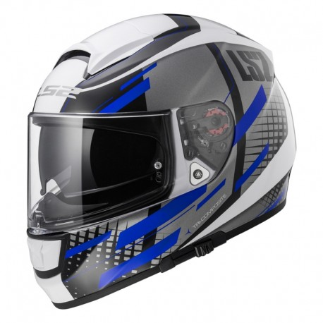 Casco VECTOR Titan White Titanium Blue