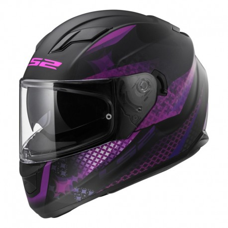 Casco Lux Matt Black Pink
